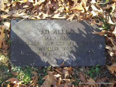ALLEN (VETERAN WWI), ED - Delaware County, Oklahoma | ED ALLEN (VETERAN WWI) - Oklahoma Gravestone Photos