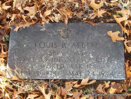 ALLEN (VETERAN WWII), LOUIS R - Delaware County, Oklahoma | LOUIS R ALLEN (VETERAN WWII) - Oklahoma Gravestone Photos