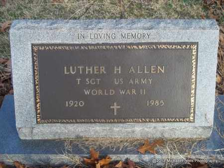 ALLEN (VETERAN WWII), LUTHER H - Delaware County, Oklahoma | LUTHER H ALLEN (VETERAN WWII) - Oklahoma Gravestone Photos