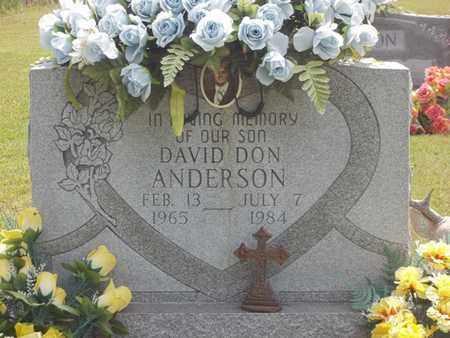 ANDERSON, DAVID DON - Delaware County, Oklahoma | DAVID DON ANDERSON - Oklahoma Gravestone Photos