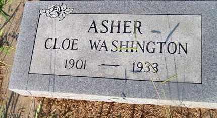 ASHER, CLOE WASHINGTON - Delaware County, Oklahoma   CLOE WASHINGTON ASHER - Oklahoma Gravestone Photos