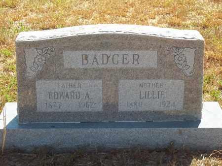 BADGER, LILLIE - Delaware County, Oklahoma | LILLIE BADGER - Oklahoma Gravestone Photos