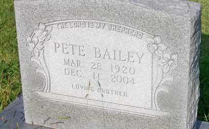 BAILEY, PETE - Delaware County, Oklahoma | PETE BAILEY - Oklahoma Gravestone Photos