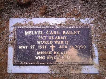 BAILEY (VETERAN WWII), MELVEL CARL - Delaware County, Oklahoma | MELVEL CARL BAILEY (VETERAN WWII) - Oklahoma Gravestone Photos