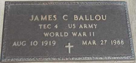 BALLOU (VETERAN WWII), JAMES C - Delaware County, Oklahoma | JAMES C BALLOU (VETERAN WWII) - Oklahoma Gravestone Photos