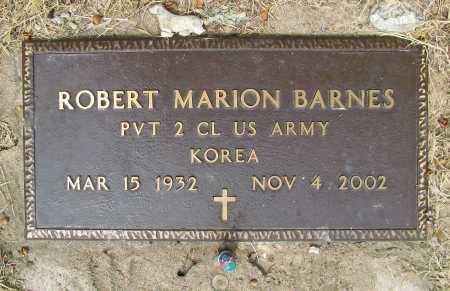 BARNES (VETERAN KOR), ROBERT MARION - Delaware County, Oklahoma   ROBERT MARION BARNES (VETERAN KOR) - Oklahoma Gravestone Photos