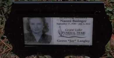 BASINGER, NAOMI - Delaware County, Oklahoma   NAOMI BASINGER - Oklahoma Gravestone Photos