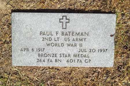 BATEMAN (VETERAN WWII), PAUL F - Delaware County, Oklahoma   PAUL F BATEMAN (VETERAN WWII) - Oklahoma Gravestone Photos