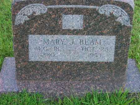 BEAM, MARY J - Delaware County, Oklahoma | MARY J BEAM - Oklahoma Gravestone Photos