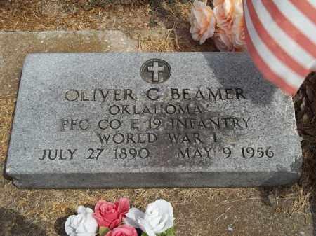 BEAMER (VETERAN WWI), OLIVER C - Delaware County, Oklahoma   OLIVER C BEAMER (VETERAN WWI) - Oklahoma Gravestone Photos
