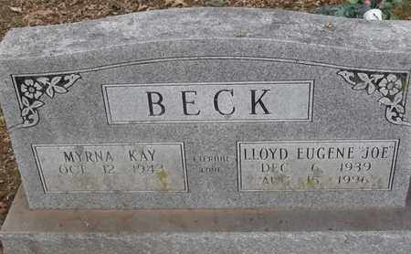 BECK, LLOYD EUGENE (JOE) - Delaware County, Oklahoma | LLOYD EUGENE (JOE) BECK - Oklahoma Gravestone Photos