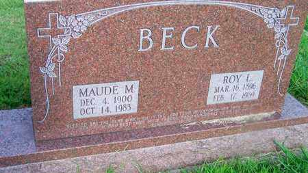 BECK, MAUDE M - Delaware County, Oklahoma | MAUDE M BECK - Oklahoma Gravestone Photos