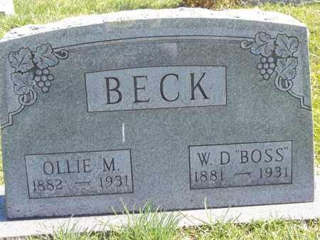 BECK, OLLIE M - Delaware County, Oklahoma | OLLIE M BECK - Oklahoma Gravestone Photos