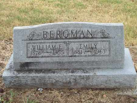 BERGMAN, WILLIAM F - Delaware County, Oklahoma | WILLIAM F BERGMAN - Oklahoma Gravestone Photos