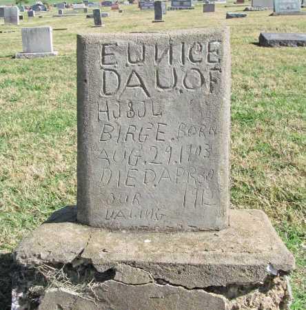 BIRGE, EUNICE - Delaware County, Oklahoma | EUNICE BIRGE - Oklahoma Gravestone Photos