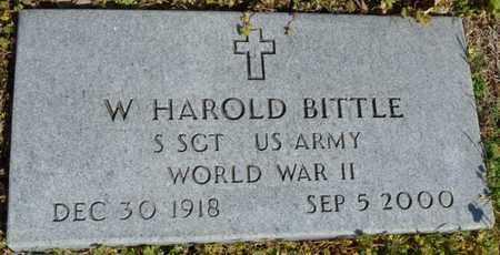 BITTLE (VETERAN WWII), W. HAROLD - Delaware County, Oklahoma   W. HAROLD BITTLE (VETERAN WWII) - Oklahoma Gravestone Photos