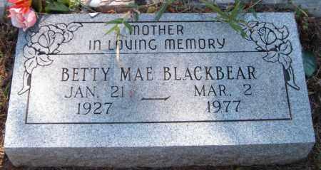 BLACKBEAR, BETTY MAE - Delaware County, Oklahoma | BETTY MAE BLACKBEAR - Oklahoma Gravestone Photos