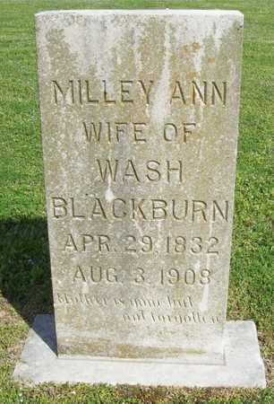 BLACKBURN, MILLEY ANN - Delaware County, Oklahoma | MILLEY ANN BLACKBURN - Oklahoma Gravestone Photos