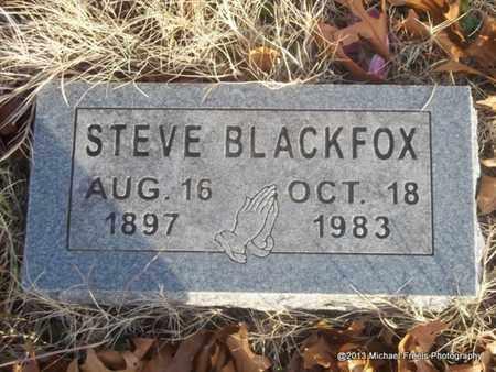 BLACKFOX, STEVE - Delaware County, Oklahoma   STEVE BLACKFOX - Oklahoma Gravestone Photos