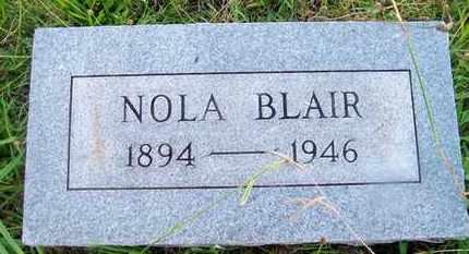 BLAIR, NOLA - Delaware County, Oklahoma   NOLA BLAIR - Oklahoma Gravestone Photos