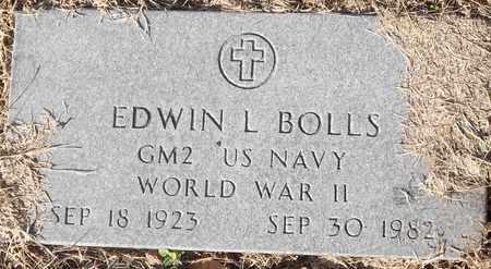 BOLLS (VETERAN WW II), EDWIN L - Delaware County, Oklahoma | EDWIN L BOLLS (VETERAN WW II) - Oklahoma Gravestone Photos