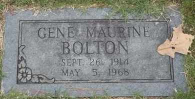 BOLTON, GENE MAURINE - Delaware County, Oklahoma | GENE MAURINE BOLTON - Oklahoma Gravestone Photos