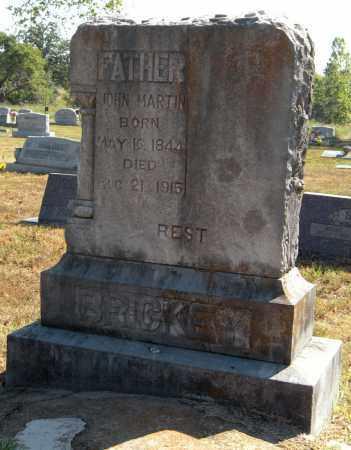 BRICKEY, JOHN MARTIN - Delaware County, Oklahoma   JOHN MARTIN BRICKEY - Oklahoma Gravestone Photos