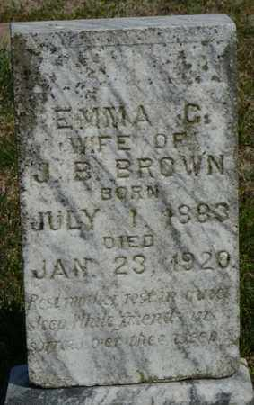BROWN, EMMA C - Delaware County, Oklahoma | EMMA C BROWN - Oklahoma Gravestone Photos