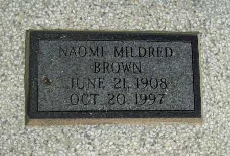 DUMMITT BROWN, NAOMI MILDRED - Delaware County, Oklahoma   NAOMI MILDRED DUMMITT BROWN - Oklahoma Gravestone Photos