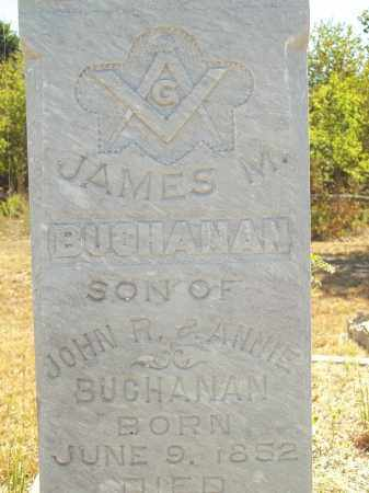 BUCHANAN (CLOSEUP), JAMES M - Delaware County, Oklahoma | JAMES M BUCHANAN (CLOSEUP) - Oklahoma Gravestone Photos