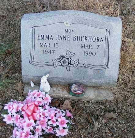 BUCKHORN, EMMA JANE - Delaware County, Oklahoma   EMMA JANE BUCKHORN - Oklahoma Gravestone Photos