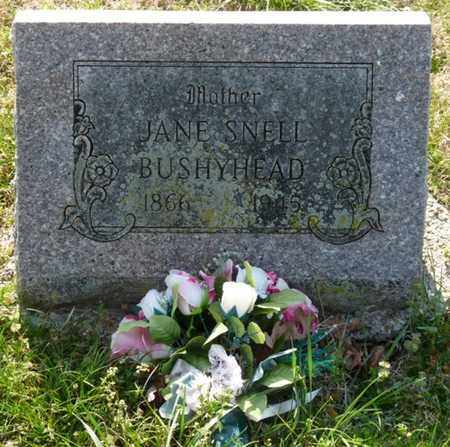 BUSHYHEAD, JANE - Delaware County, Oklahoma | JANE BUSHYHEAD - Oklahoma Gravestone Photos