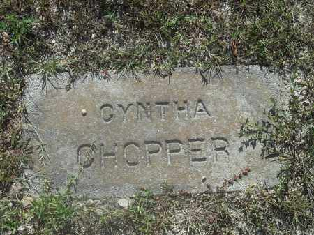 CHOPPER, CYNTHA - Delaware County, Oklahoma   CYNTHA CHOPPER - Oklahoma Gravestone Photos