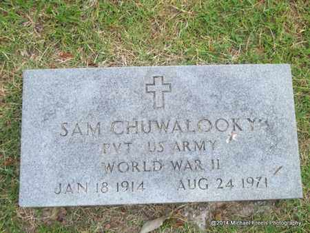 CHUWALOOKY (VETERAN WWII), SAM - Delaware County, Oklahoma | SAM CHUWALOOKY (VETERAN WWII) - Oklahoma Gravestone Photos