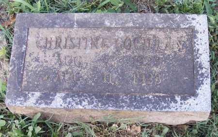 COCHRAN, CHRISTINE - Delaware County, Oklahoma   CHRISTINE COCHRAN - Oklahoma Gravestone Photos