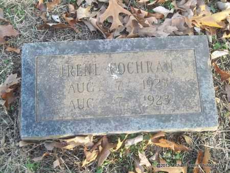 COCHRAN, IRENE - Delaware County, Oklahoma | IRENE COCHRAN - Oklahoma Gravestone Photos
