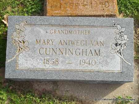 CUNNINGHAM, MARY ANIWEGI - Delaware County, Oklahoma | MARY ANIWEGI CUNNINGHAM - Oklahoma Gravestone Photos