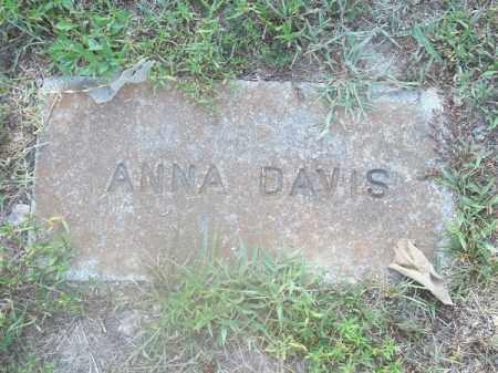 DAVIS, ANNA - Delaware County, Oklahoma | ANNA DAVIS - Oklahoma Gravestone Photos