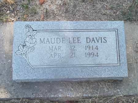 DAVIS, MAUDE LEE - Delaware County, Oklahoma | MAUDE LEE DAVIS - Oklahoma Gravestone Photos