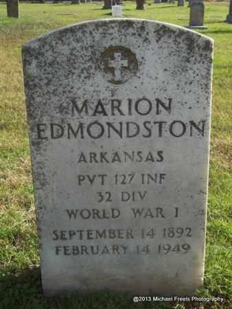 EDMONDSTON (VETERAN WWI), MARION - Delaware County, Oklahoma | MARION EDMONDSTON (VETERAN WWI) - Oklahoma Gravestone Photos