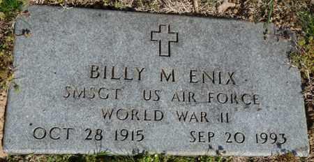 ENIX (VETERAN WWII), BILLY M - Delaware County, Oklahoma   BILLY M ENIX (VETERAN WWII) - Oklahoma Gravestone Photos