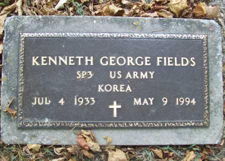 FIELDS (VETERAN KOR), KENNETH GEORGE - Delaware County, Oklahoma | KENNETH GEORGE FIELDS (VETERAN KOR) - Oklahoma Gravestone Photos