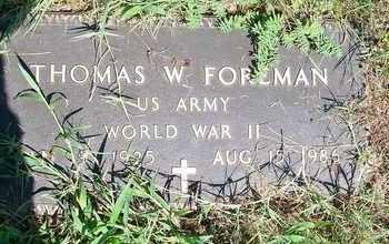 FOREMAN, THOMAS W - Delaware County, Oklahoma | THOMAS W FOREMAN - Oklahoma Gravestone Photos