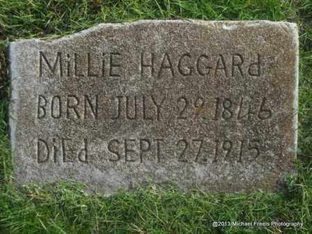 HAGGARD, MILLIE - Delaware County, Oklahoma   MILLIE HAGGARD - Oklahoma Gravestone Photos
