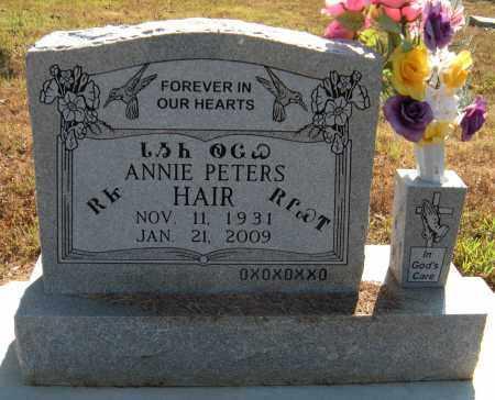 HAIR, ANNIE - Delaware County, Oklahoma | ANNIE HAIR - Oklahoma Gravestone Photos
