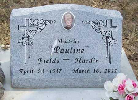 FIELDS HARDIN, BEATRICE PAULINE - Delaware County, Oklahoma | BEATRICE PAULINE FIELDS HARDIN - Oklahoma Gravestone Photos