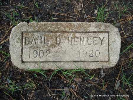 HENLEY, DARL D. - Delaware County, Oklahoma | DARL D. HENLEY - Oklahoma Gravestone Photos