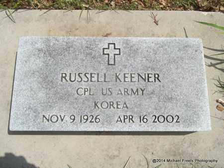 KEENER (VETERAN KOR), RUSSELL - Delaware County, Oklahoma   RUSSELL KEENER (VETERAN KOR) - Oklahoma Gravestone Photos