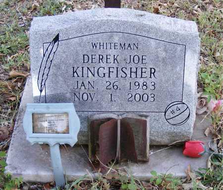 "KINGFISHER, DEREK JOE ""WHITEMAN"" - Delaware County, Oklahoma | DEREK JOE ""WHITEMAN"" KINGFISHER - Oklahoma Gravestone Photos"
