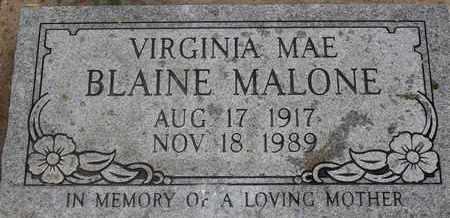 BLAINE MALONE, VIRGINIA MAE - Delaware County, Oklahoma | VIRGINIA MAE BLAINE MALONE - Oklahoma Gravestone Photos